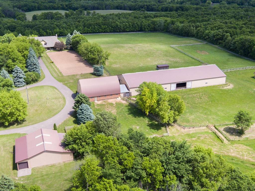 Equestrian Dream. 80 acres. Executive home, indoor arena, 7 stall ...
